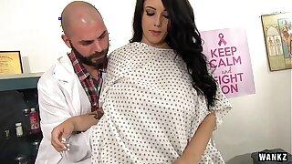 Big Bap Patient Gets Her Temperature Taken HD