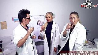 German Sex, nurse jacks in hospital and gets caught