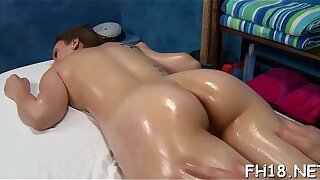 Hot and lascivious 18 year old slut gets a hard smash from her massage therapist