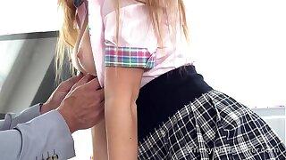 Tricky Old Teacher - Irresistible babe seduces experienced teacher
