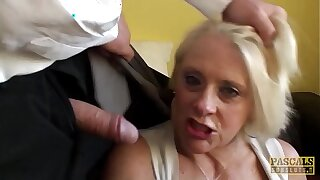 PASCALSSUBSLUTS - Choked granny Carol gets rough anal intercourse