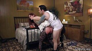 Hefty ass slut likes harsh anal invasion sex