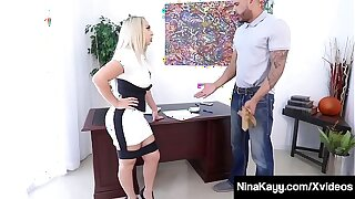 Big Booty Chief Nina Kayy Is Ass Plumbed By BBC Underling!