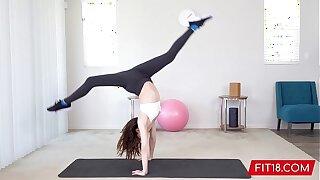 FIT18 - Aliya Brynn - 50kg - Casting Flexible and Horny Small Dancer
