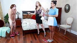 BANGBROS - Stepmom Julia Ann Threesome With Maid Abby Lee Brazil