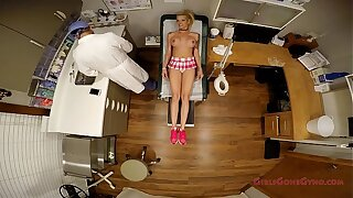 Big breasted ash-blonde Bella Ink examined drilled and prodded by the doctor, forced to do exercises, get her gash probed, spread wide in the stirrups, mandatory examination - Tampa University Physical - Part 3 of 9 - GirlsGoneGyno.com - Medical Clinic Fetish