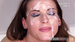 Premium Mass ejaculation - Victoria Daniels swallows 55 meaty mouthful jizm loads