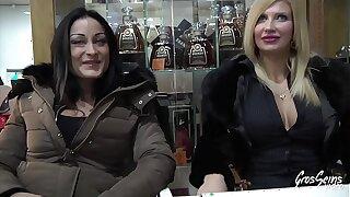 Cristal et Mila, deux belles italiennes accros à la bite