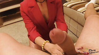 Secretary Deepthroat and Sensual Anal invasion Fuck after Work - Cum